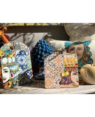 Tagliere in ceramica Regina Azzurra