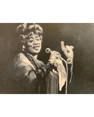 Ella Fitzgerald - Dipinto su Tela