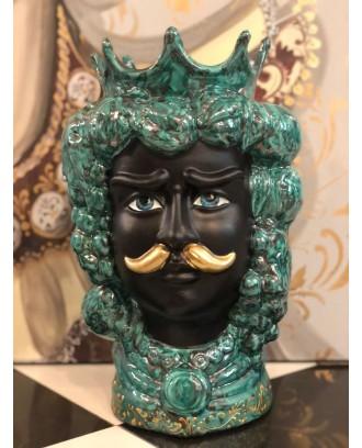 Testa in Ceramica Re Verde...