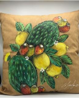 Cuscino Fichi e Limoni
