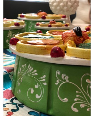 Scatola cassata con coperchio in ceramica 22