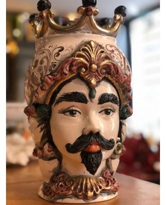 Testa di Moro in ceramica...