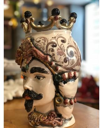 Testa di Moro in ceramica finitura lucida