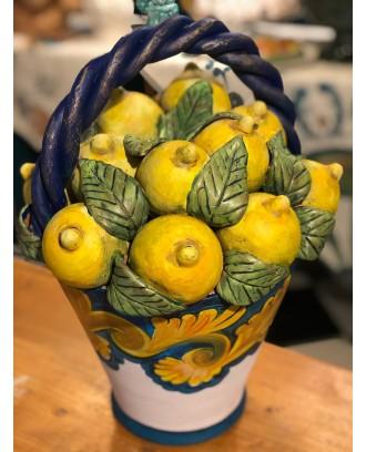 Cesto limoni ceramica...