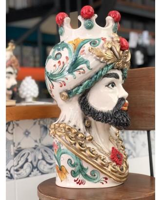 Testa di Moro Re di Sicilia mezzo busto