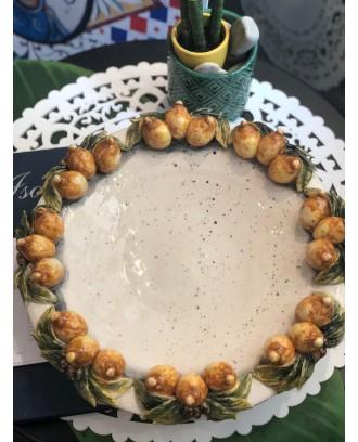 Piatto Limoni e Pepe centro tavola ceramica