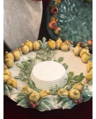 Piatto Limoni chiaro centro tavola ceramica