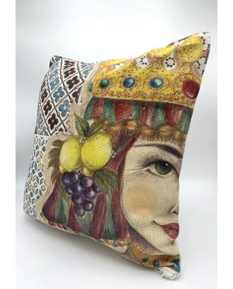 Cuscino in cotone 40x40 Antica The Queen