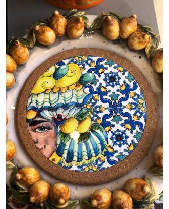 Sottopentola in ceramica e sughero rotondo Moretto