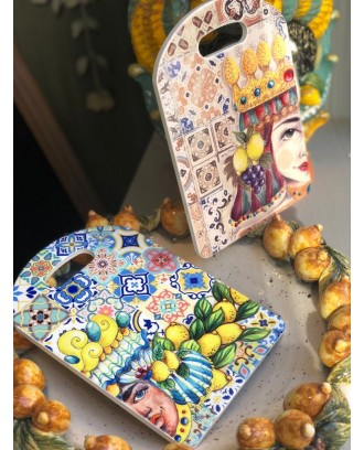 Tagliere in ceramica Antica The Queen