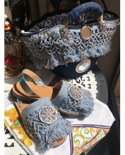 Sandalo argento in ecopelle...