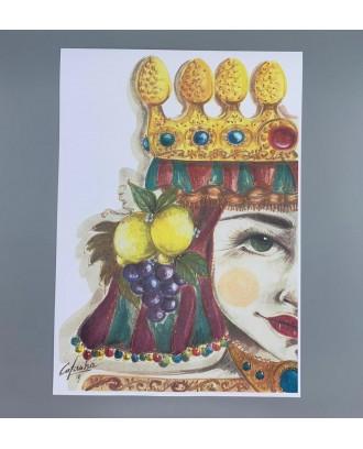 Litografia Antica The Queen