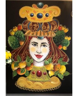 Regina di Sicilia dipinto su tela