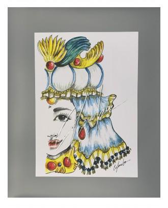 Litografia Azzurro Queen