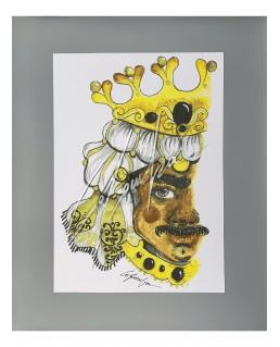 Litografia Oro Nero King