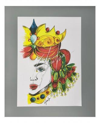 Litografia Rosso Queen